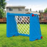 Poarta fotbal pentru copii, usor de asamblat, 75 x 100 x 55 cm, Albastra