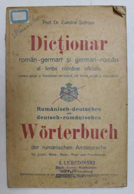 Dictionar Roman-German si German-Roman al limbii romane oficiale, Calistrat Sotropa, Cernauti 1921 foto