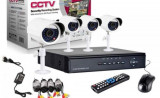 Sistem supraveghere CCTV kit DVR 4 camere exterior/interior, cu HDMI! Mania