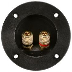Conector boxa rotund cu 2 contacte aurite