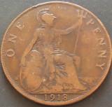 Moneda istorica 1 PENNY - MAREA BRITANIE, anul 1918 *cod 774 B, Europa