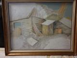 Pictura Onisim Colta, acril pe panza