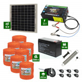 Pachet gard electric cu Panou solar 3,1J putere și 3500m Fir 90Kg cu acumulator
