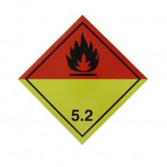 Autocolant eticheta avertizare informare ADR 5.2, Cargoparts