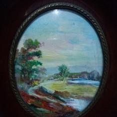 Tablou vechi - Peisaj de vara - Detalii foarte bune(92)