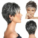 Peruca lady metallic grey