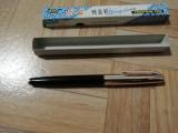 Stilou chinezesc Wing Sung 612 NOU cu capac auriu NOU