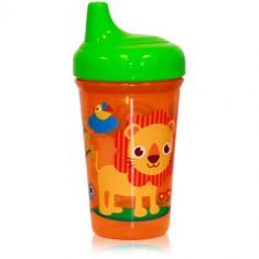 Cana cu Cioc Ergonomic Zoo 300 ml Green Orange