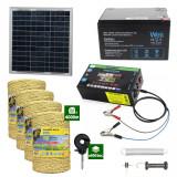 Gard electric cu Panou solar 3,1J putere cu 4000m Fir 160Kg cu acumulator 12Ah