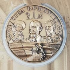 Medalie Mare Unire Centenar 1 Decembrie Ferdinand Mihai Viteazul Ioan Cuza
