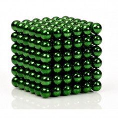 Neocube 216 bile magnetice 5mm, joc puzzle, culoare verde