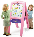 Tabla dubla pentru copii - Easel for Two Culoare Roz