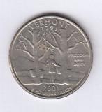 SUA - Quarter dollar / 25 Cents - Vermont (Lot 1), America de Nord