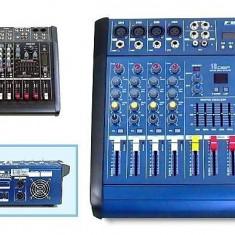 Mixer amplificat WVNGR 4D USB cu 4 canale putere 200W si microfon