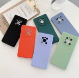 Husa Antisoc ultra-slim cu microfibra pt. Huawei Mate 40 Pro, Alt model telefon Huawei, Albastru, Gri, Mov, Negru, Rosu, Roz, Verde, Silicon
