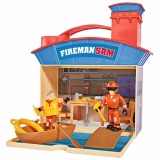 Jucarie Statie Salvamar cu 2 Figurine si Accesorii Ocean Rescue Fireman Sam