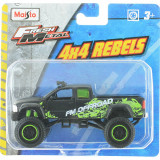 Masinuta Maisto Fresh Metal, 4X4 Rebels, 11 cm, 1:64, Negru/Verde