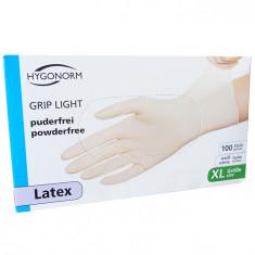 Manusi latex Grip Light marimea XL, albe, 100 bucati/cutie, nepudrate foto