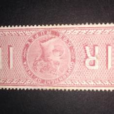 Timbru India cu regina Victoria