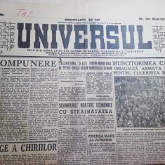 Ziarul universul 5 mai 1945-presedintele truman anuta ca hitler a murit