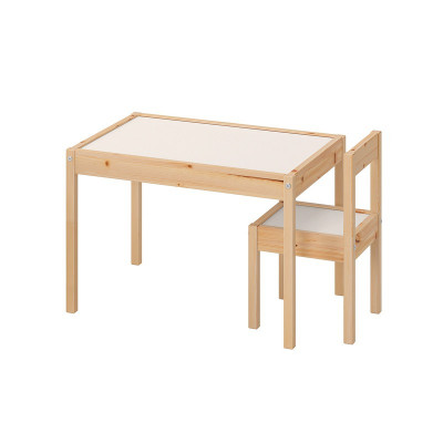 Set masuta si scaun pentru copii Sinbo, lemn foto
