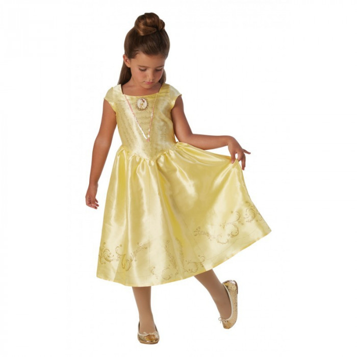 Costum Disney Clasic Belle, varsta 7-8 ani, marime L, Galben