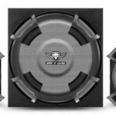 Boxe Spirit of Gamer SGS 2.1, 45W RMS, 3.5mm jack, telecomanda (Negru)
