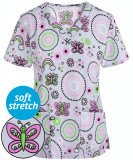 """Bluza medicala """"Geo hearts butterfly"""" (GT501GHB)"""