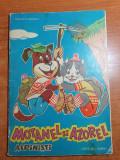 Motanel si azorel alpinisti - carte de colorat  octombrie 1969