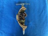 Alpenstock,piolet miniatural austriac cu clopotel