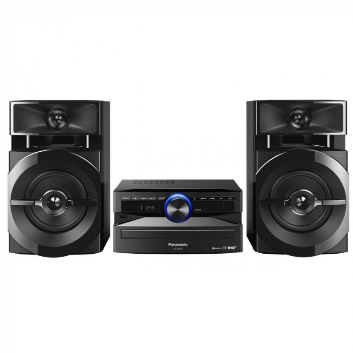Resigilat: Sistem audio Panasonic SC-UX100E-K, 300W, Bluetooth, Negru