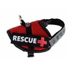 Ham pentru câini Rescue XS 30 - 40 cm, roșu