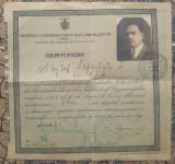 Certificat drept activare aparare antiaeriana al unui inginer sef CFR/ 1941
