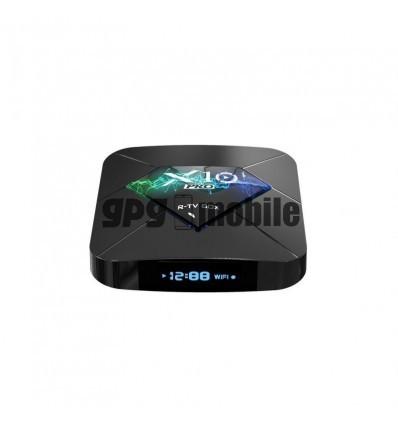 Tv Box X10 PRO Smart Media Player,3D, 4K HDR, RAM 4GB, ROM 64GB, Android 8.1,Quad Core