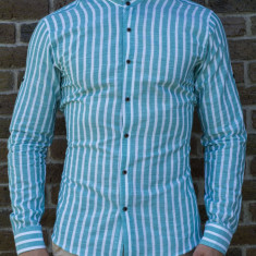 Camasa turquaz alb - camasa slim fit camasa barbat camasa ocazie cod 193