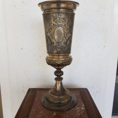 POCAL-POTIR-CUPA -DIN METAL ARGINTAT SI AURIT-PREMIUL I-GERMANIA CCA 1890