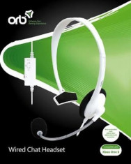 Accesoriu Orb Wired Chat Headset White Xbox One foto