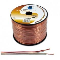 Cablu pentru difuzor, 4mm², transparent - 402314