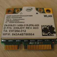 Placa wireless laptop Dell Precision M4600, Intel Advanced-N 6205, 0X9JDY