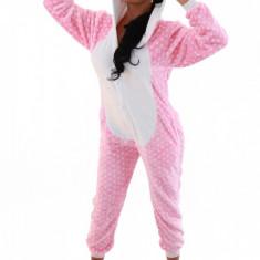 PJM79-225 Pijama intreaga kigurumi, model pisicuta, M, M/L
