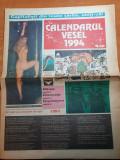 Ziarul calendarul vesel 1994