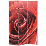 Paravan de cameră pliabil, 120 x 170 cm, trandafir roșu, vidaXL