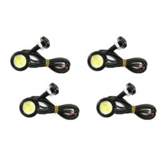 Set 4 LED-uri auto 3W fiecare - Lumini de zi sau pentru interior