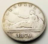 SPANIA - 2 Pesetas 1870 SN M - Argint - Guvernamant provizoriu - (1), Europa