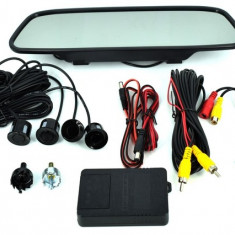 "Senzori parcare si camera marsarier cu display tip oglinda de 5"" AL-210319-2"