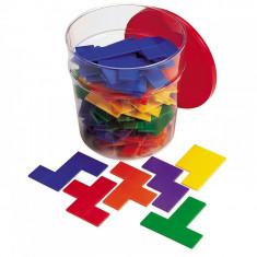 Piese tetris curcubeu Pentomino jucarie educativa