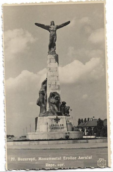 Carte postala Monumentul eroilor aerului Bucuresti