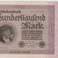 100000 MARCI GERMANIA 20 FEBRUARIE 1923/UNC