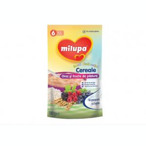 Cereale copii MILUPA Buna dimineata fara lapte orez si fructe de padure 180g de la 6 luni