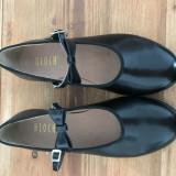 Pantofi de step, 38, Negru, Cu talpa joasa